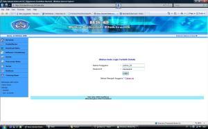 Tampilan nama pengguna dan password